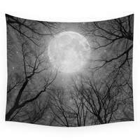 Society6 May It Be A Light (Dark Forest Moon) Wall Tapestry