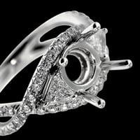 1.75 carats Engagement anniversary diamond ring semi mount ring