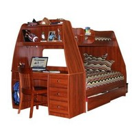 Walmart: Enterprise Twin over Full Bunk Bed with Storage Drawers / Desk / Stairway