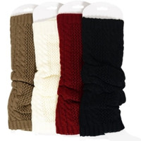 Soft Cozy Mocha, Charcoal, Burgundy or White Leg Warmers, Boot Toppers, Women's Accessories