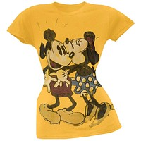Mickey Mouse - In Love Juniors T-Shirt