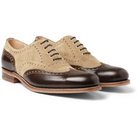 GrensonG-Lab Dylan Suede and Leather Wingtip Brogues|MR PORTER
