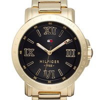Women's Tommy Hilfiger Tachymeter Bezel Bracelet Watch, 39mm - Gold/ Black