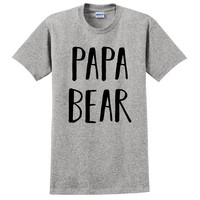 Papa bear t shirt daddy tee gift for him birthday gift for father daddy