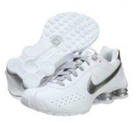Womens Nike Shox Classic II Running Shoes White / Metallic Silver 343907-103