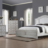 Toulon Antique White Queen Bedroom Set
