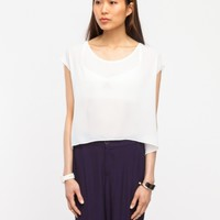 Need Supply Co. Woven Detail Top