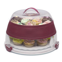 Collapsible Cupcake and Cake Carrier   Transport your cakes. Kitchen Krafts