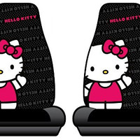 Hello Kitty Sanrio Waving Car Truck SUV Bucket Seat Covers - Pair