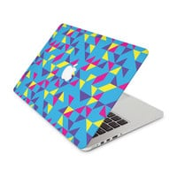 Fluorescent Purple Pink Yellow Shapes Skin for the Apple MacBook
