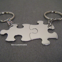 Non-Customizable Keychains, Puzzle piece keychains, Couples Keychains , Anniversary Gift