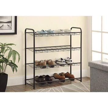 Well-Designed Metal Shoe Rack, Black By Coaster