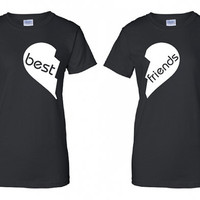 Best Friends BFF BF Love you Heart Broken Forever beer ireland scottish adult T-Shirt Tee Shirt Mens Ladies Womens mad labs ML-302