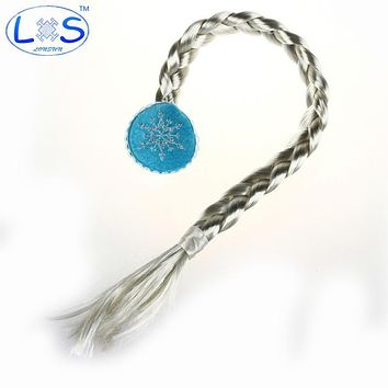 Anime Cospaly Snow Queen Elsa Elsa Braided Snow Hair Wig Halloween Christmas Gifts for Children