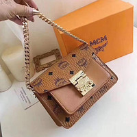 MCM Hot Selling Classic Mini Tote Bags Chain Bags Handbags Fashion Ladies Shoulder Messenger Bags