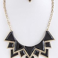 TRENDY FASHION JEWELRY ACRYLIC COLLAR NECKLACE SET BY FASHION DESTINATION