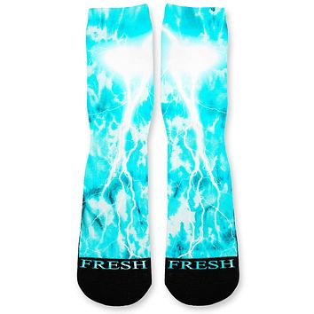Sea Tie Dye Storm Custom Athletic Fresh Socks