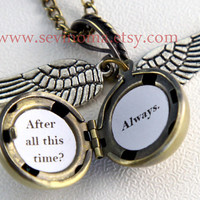 Harry Potter Golden Snitch Always Necklace, Steampunk