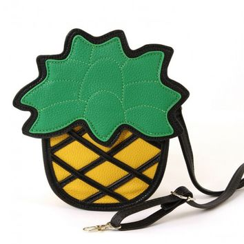Purse - Playful Pineapple Crossbody Shoulder Bag