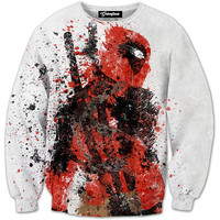 Deadpool Blood Art Crewneck