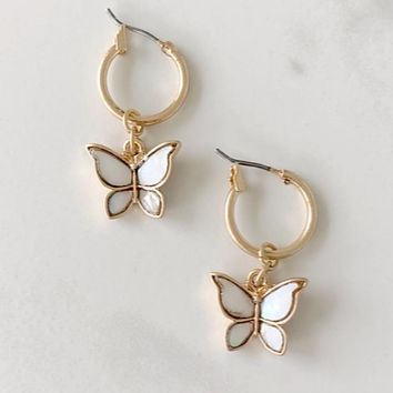 Butterfly Effect Gold Earring