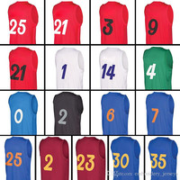 New 2017 Christmas Edition 100% stitched Men's #30 #35 #23 #2 #25 #7 #6 #2 #0 #4 #14 #1 #21 #9 #3 #21 #25 Embroidery jersey Free Shipping