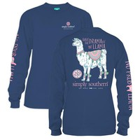 "Youth Simply Southern Long Sleeve - ""Llama"""