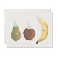 RED CAP CARDS FRUIT PARTY CARD