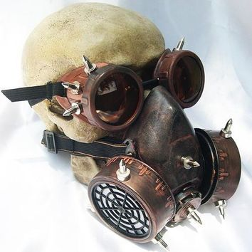 Steampunk Raver Goggles & Mask for Raving, Burning Man, Cosplay, Costume
