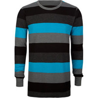 Shouthouse Four Stripe Mens Thermal Turquoise  In Sizes