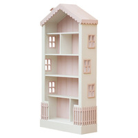 Alice's Dollhouse Bookcase, Pink, Bookcases & Bookshelves