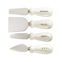 Rae Dunn French Cheese Knives - Set of 4 with Gift Box