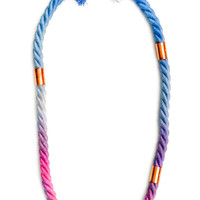 Dip Dye Rope Necklace