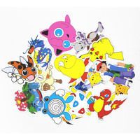 43Pcs/Set Anime Pokemon Waterproof Laptop Car Stickers For Trunk Skateboard Guitar Fridge Decal Toy Stickers P2CT-43-Y