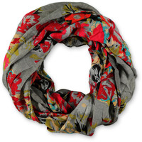 D&Y Floral Garden Print Grey Infinity Scarf at Zumiez : PDP