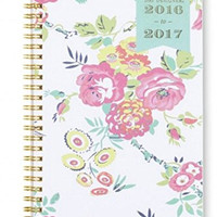 Day Designer Academic Year 2016 - 2017 Weekly/Monthly 5.875 x 8.625 Planner Notes (Various Covers) (White Floral)