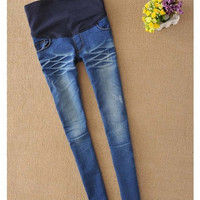 Hee Grand 2014 New Fashion women maternity jeans/pants/trousers with holes design,clothes/clothing for pregnant women WAY047 = 1945781252