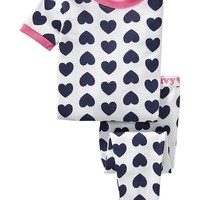 Heart-Print PJ Sets for Baby