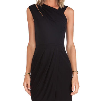 Cut25 by Yigal Azrouel Ruched Matte Jersey Dress in Black