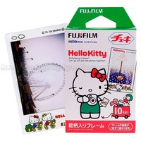 Original 10pcs Fujifilm Instax Mini 9 Film Fuji Photo Paper Hello Kitty For Mini 8 9 50s 7s 70 90 25 Share SP-1 2 Instant Camera