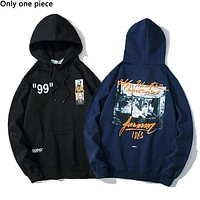 Off-white casual hoodies are hot sellers of printed cotton hoodies with fleece