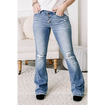 Yes You Can Mid Rise Flared Jeans