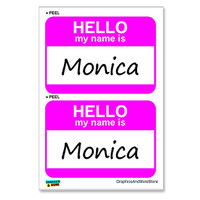 Monica Hello My Name Is - Sheet of 2 Stickers