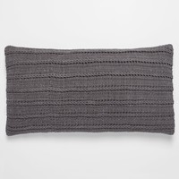 Braided Rope Slate Organic Pillow