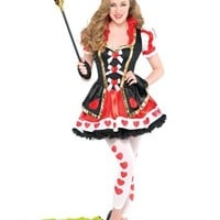 Teen Girls Sassy Queen of Hearts Costume- Party City