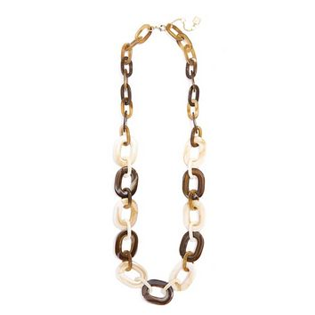 Marbled Links Long Necklace