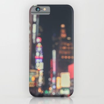 Times Square Abstract iPhone & iPod Case by The Dreamery
