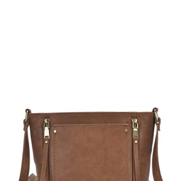 Brooklyn Bridge Crossbody Bag - Light Taupe
