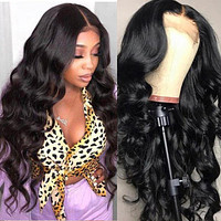 Body Wave 4x4 Lace Closure Wig Pre Plucked With Baby Hair