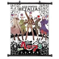 "Hetalia: Axis Powers Anime Fabric Wall Scroll Poster (16"" X 23"") Inches"